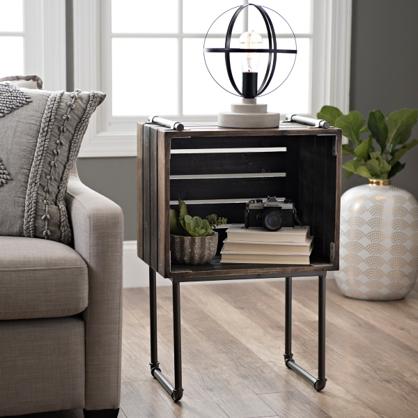 Waterpipe Crate Accent Table