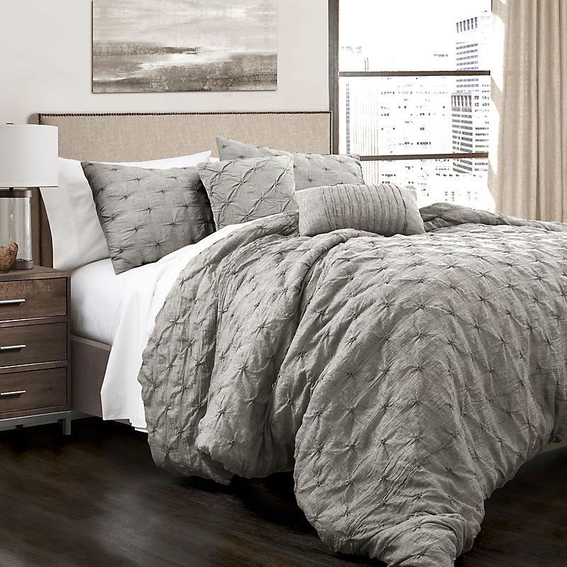 Gray Ravello 5-Piece King Comforter Set
