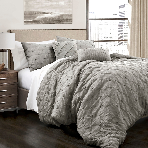 Gray Ravello 5-Piece King Comforter Set