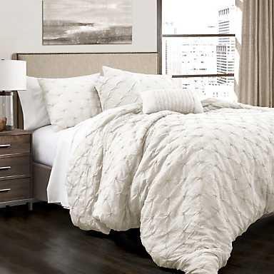 White Ravello 5-piece Comforter Set