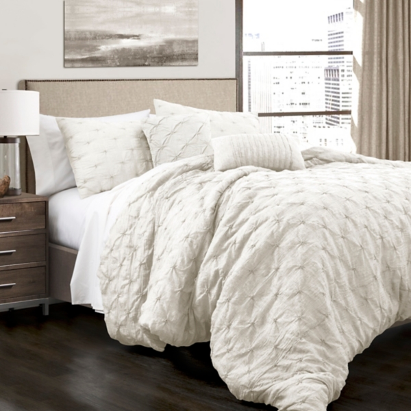 White Ravello 5-piece Comforter Set