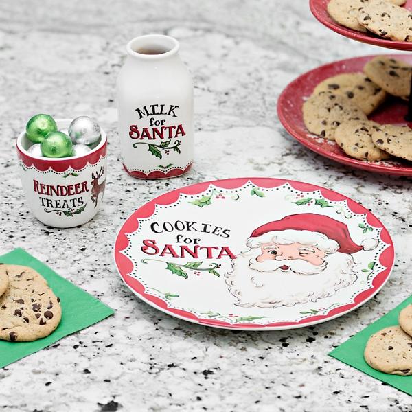 sc 1 st  Kirklands & Santa Cookies Plate Jug and Mug Set | Kirklands