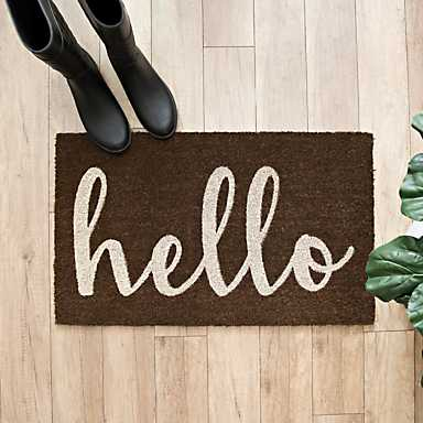 Brown Hello Doormat