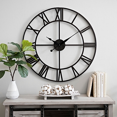 Metal Gavin Round Wall Clock   Kirklands