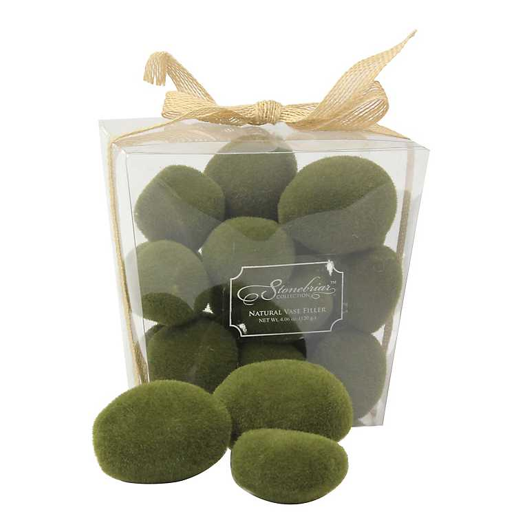 Decorative Moss Stones Package Kirklands