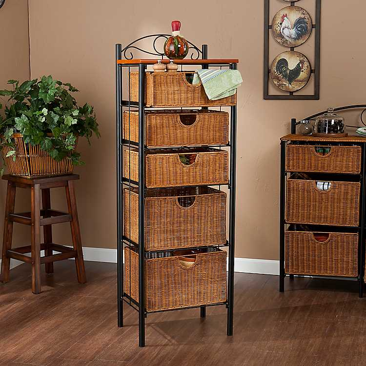 Allison 5 Drawer Wicker Storage Chest ...