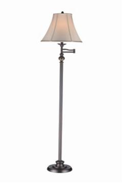 Pewter Swing Arm Floor Lamp   Kirklands