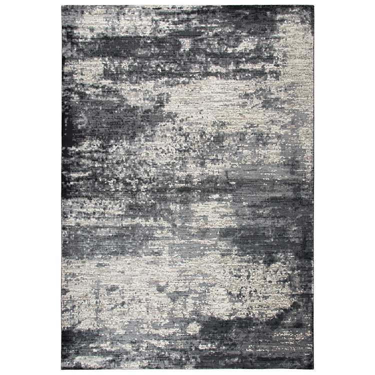 Gray And Tan Abstract Area Rug 5x8