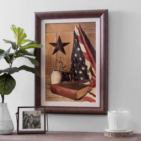 God and Country Framed Art Print | Kirklands