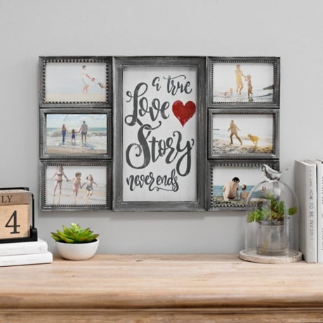 True Love Story Never Ends 6-Opening Collage Frame | Kirklands