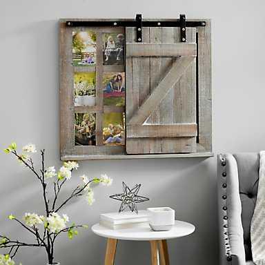 Sliding Barn Door Chalkboard Collage Frame