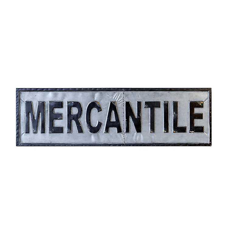 967a2d34b4fe Product Details. Vintage Metal Mercantile Sign