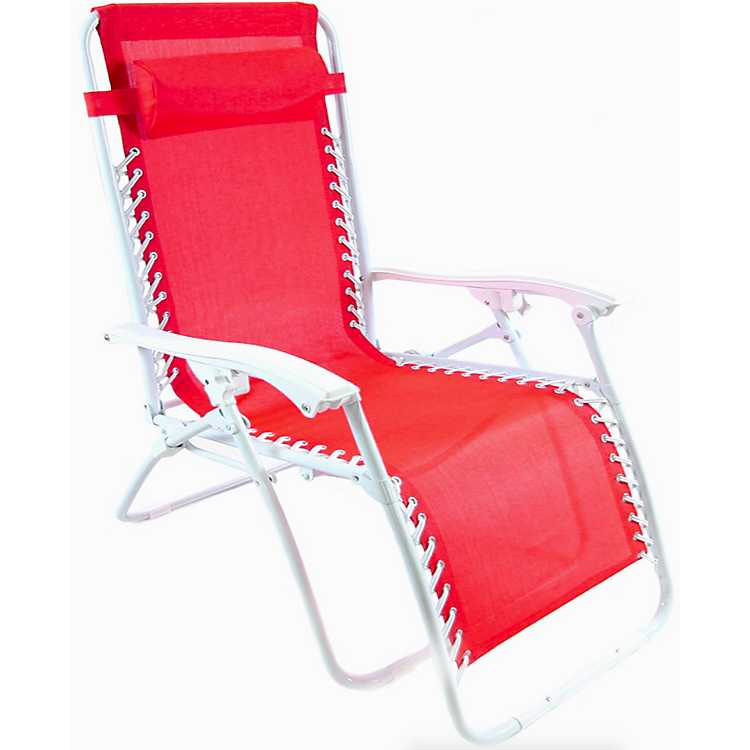 Red Extra Large Zero Gravity Chair ...