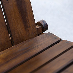 Dark Brown Acacia Folding Adirondack Chair