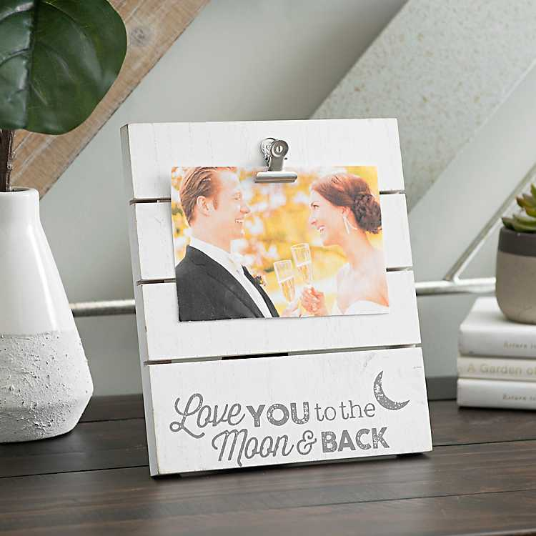 Love You to the Moon Picture Frame with Clip, 4x6   Kirklands