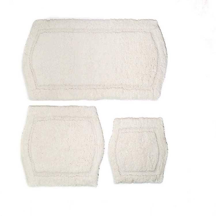Ivory Paradise 3 Pc Memory Foam Bath Mat Set