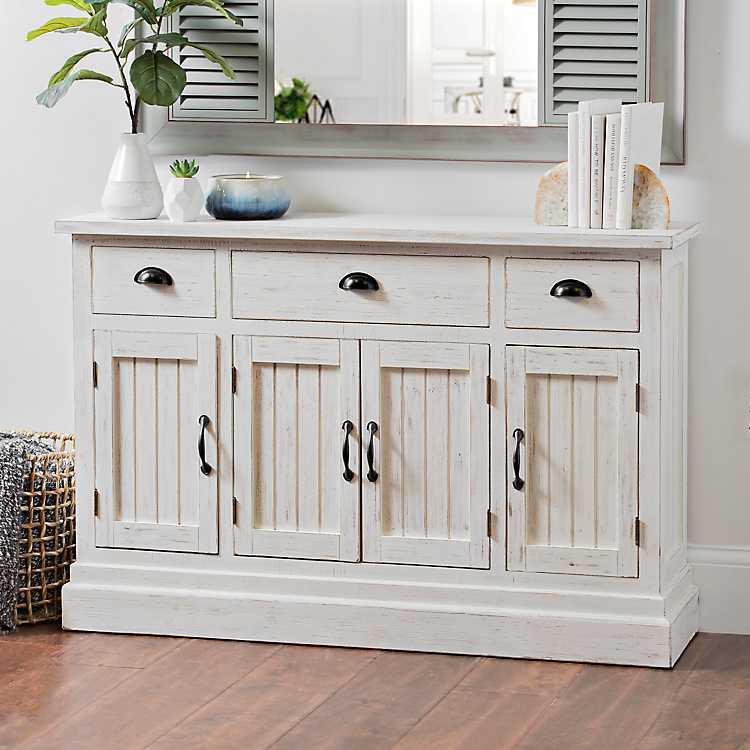 Distressed White Shiplap Chest ...