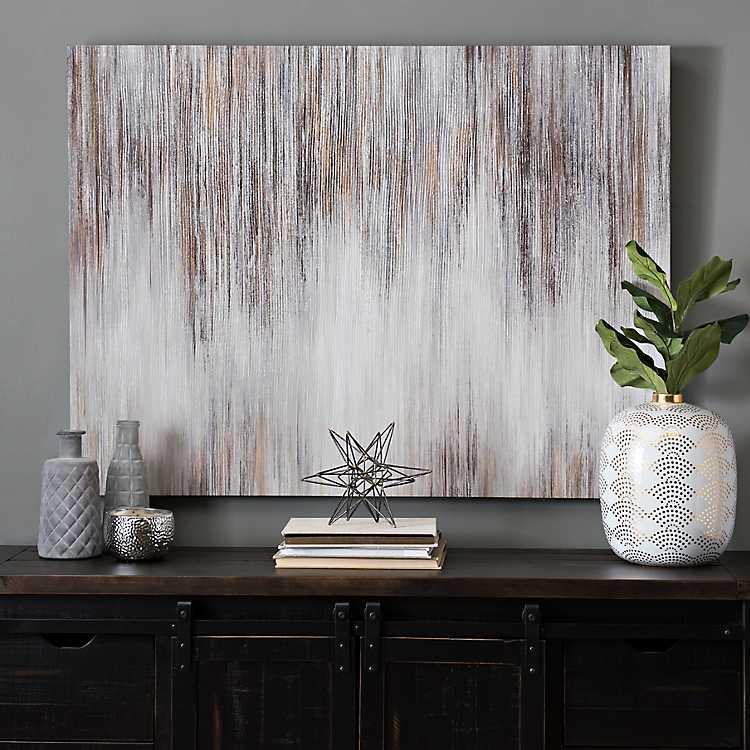 Metallic Luster Abstract Canvas Art Print
