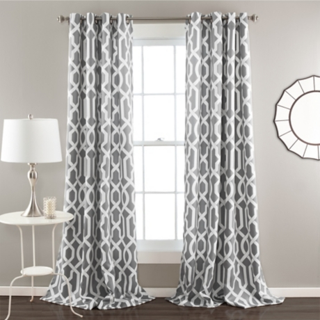 curtain panels at curtains grommet home damask panel in gray textured
