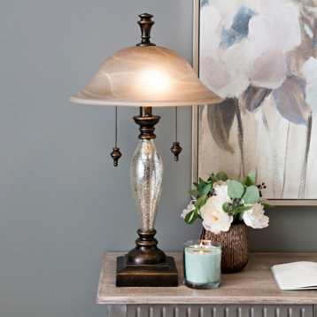 Prescott mercury glass table lamp kirklands