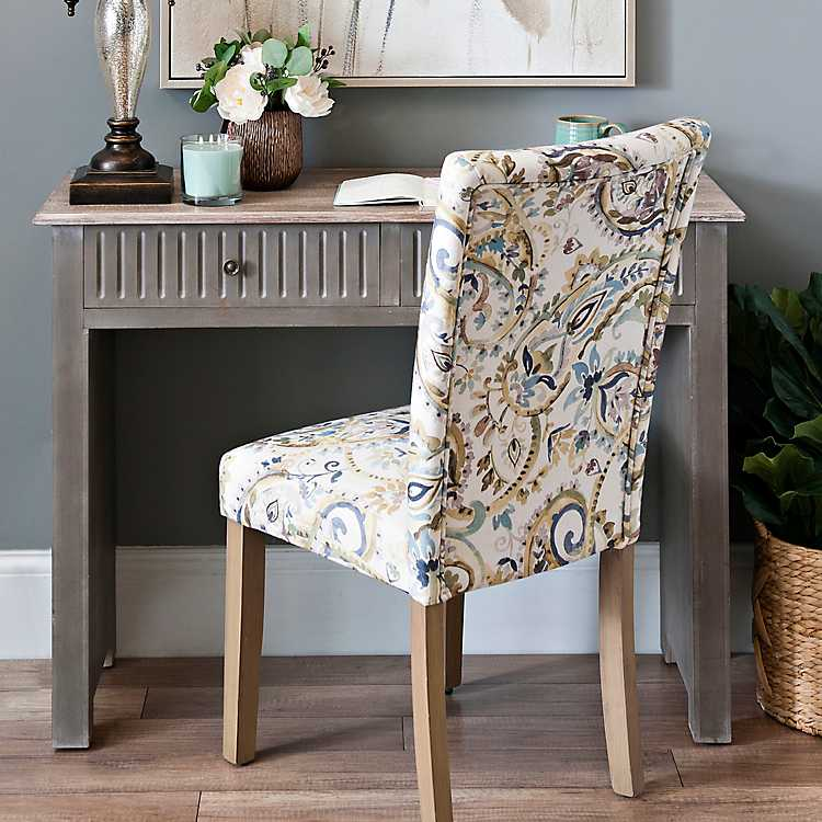 Etonnant Paisley Watercolor Lagoon Parsons Chair ...