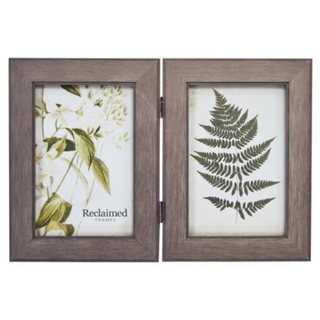Graywashed Wood 2-Opening Picture Frame, 4x6 | Kirklands