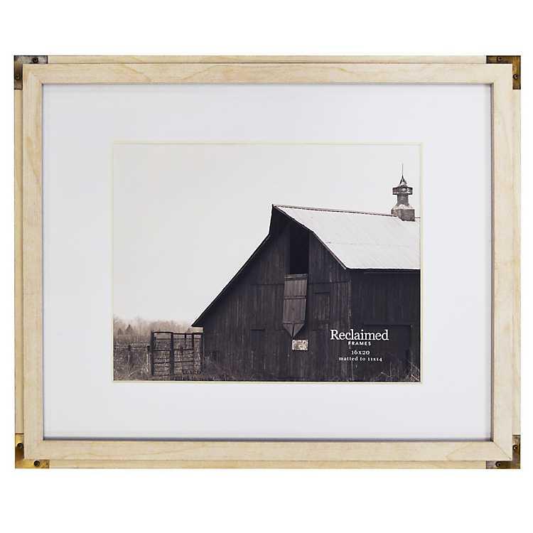 White Metal Corner Matted Picture Frame, 16x20 | Kirklands