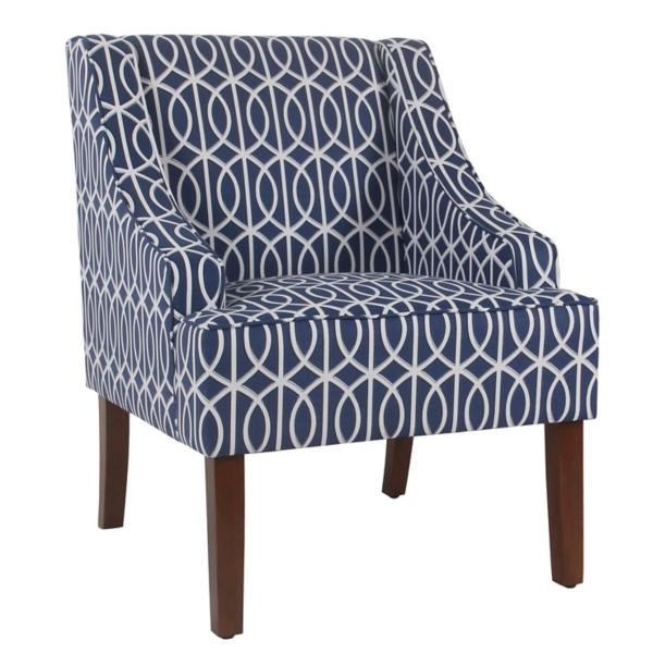 Enjoyable Bella Blue Trellis Swoop Accent Chair Kirklands Ibusinesslaw Wood Chair Design Ideas Ibusinesslaworg
