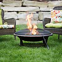 Golden Steel Bowl Fire Pit