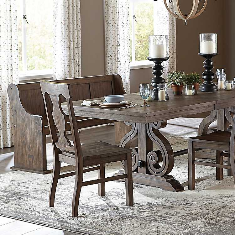Pleasant Distressed Rustic Pine Dining Chairs Set Of 2 Gmtry Best Dining Table And Chair Ideas Images Gmtryco