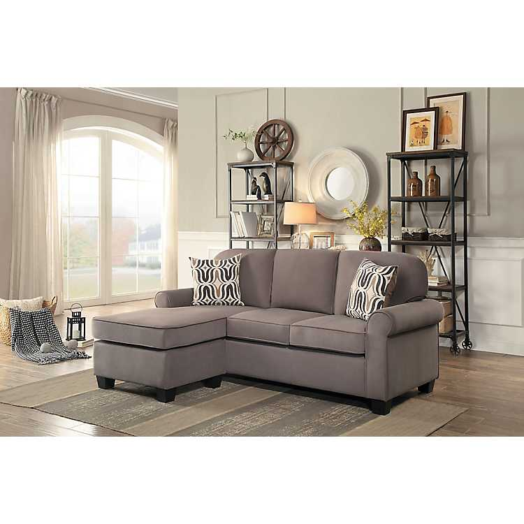 Enjoyable Taupe Reversible Sectional Sofa Onthecornerstone Fun Painted Chair Ideas Images Onthecornerstoneorg
