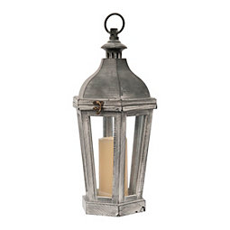 Gray With Whitewash Lantern