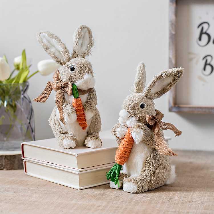 decortive ester ccents easter rabbit decor bunny.htm grass easter bunny statues kirklands  grass easter bunny statues kirklands