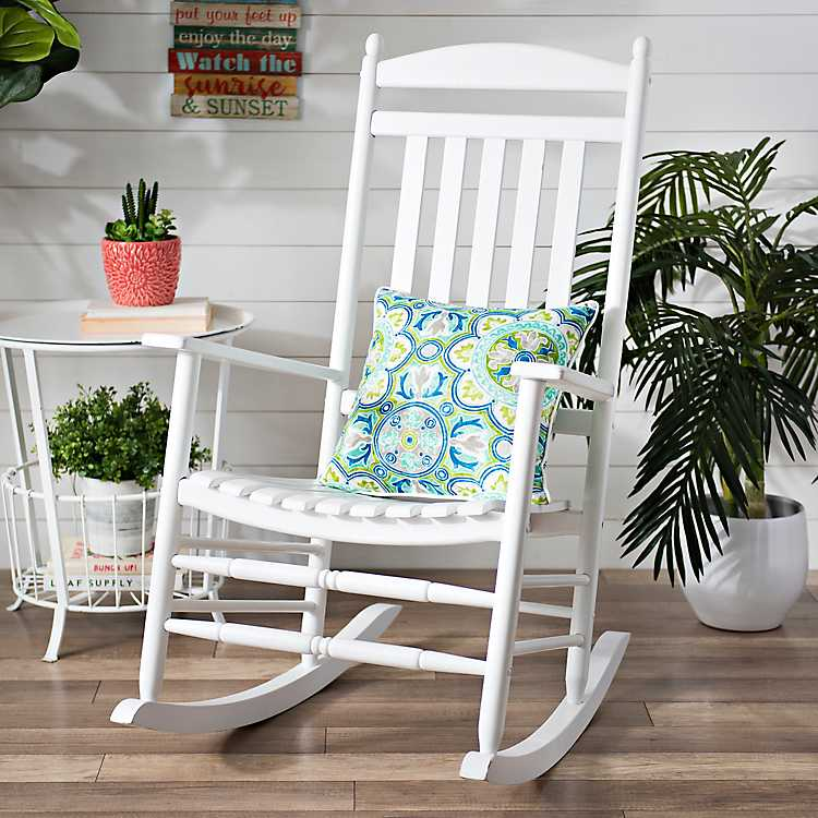 Outstanding White Wood Rocking Chair Bralicious Painted Fabric Chair Ideas Braliciousco