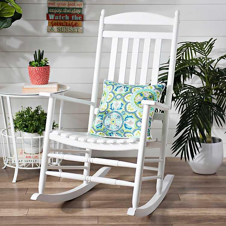 White Wood Rocking Chair Kirklands