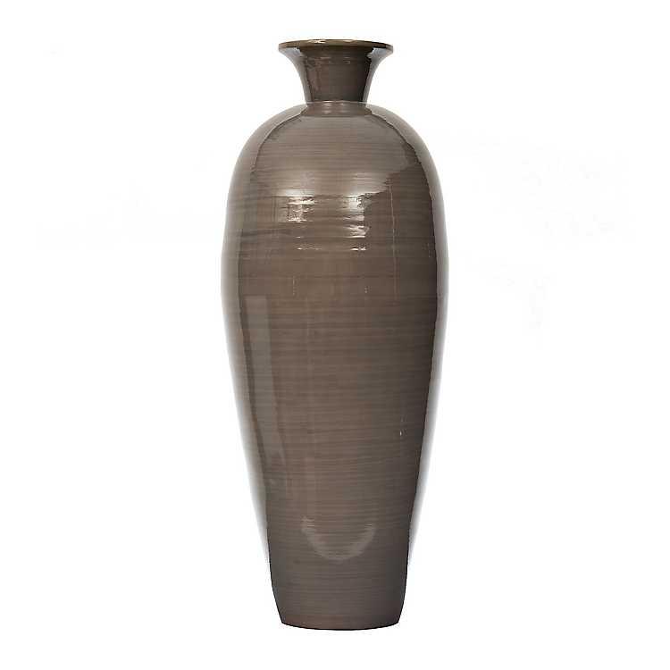 Gray Bamboo Vase 30 In Kirklands