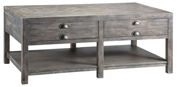 Rectangular Weathered Gray Coffee Table Kirklands