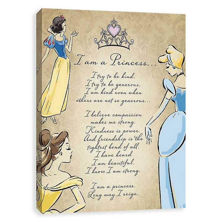 i am a princess poem canvas art print kirklands