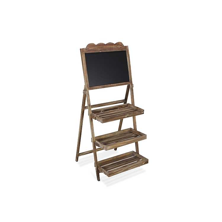 Wooden Chalkboard 3 Tier Plant Stand