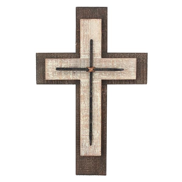 Weathered Wood And Metal Cross
