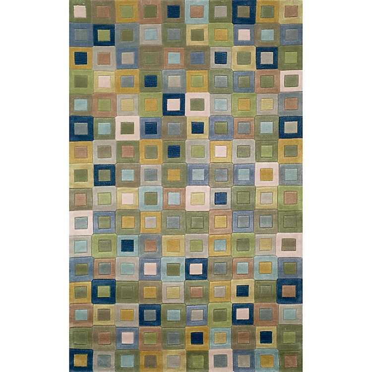 Colorful Squares Area Rug 8x10 Kirklands