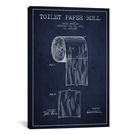 Toilet paper roll blueprint canvas art print kirklands malvernweather Images