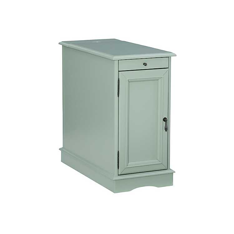 Aqua Accent Table With Charging Station Kirklands