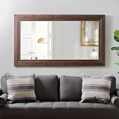 Bronze Rope Framed Wall Mirror 31 5x55 1 In