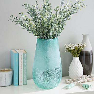 Sea Blue Glass Vase Kirklands