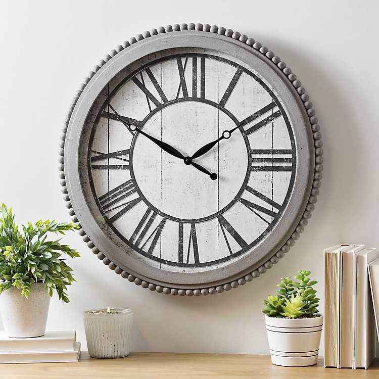 Audrey Gray Bead Wall Clock   Kirklands