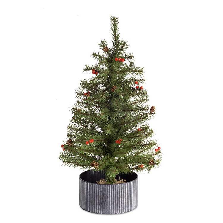 Pine Christmas Tree with Metal Pot | Kirklands