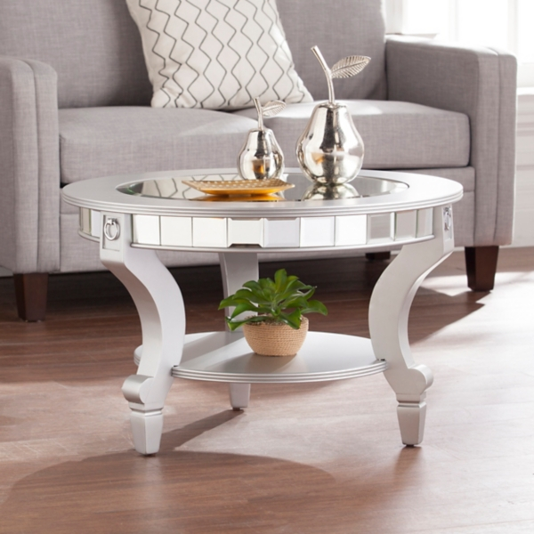 Kacee Mirrored Round Coffee Table Kirklands