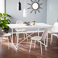Candice White X-Frame Dining Table