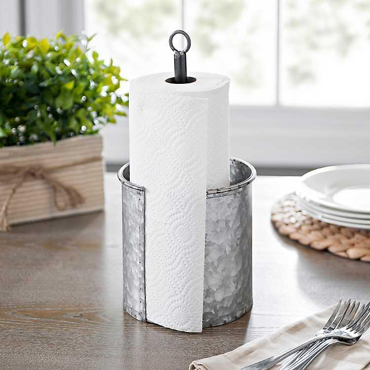 galvanized metal paper towel holder kirklands